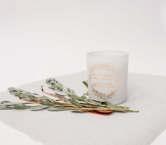 Hand poured scented single wick candle
